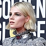 Lucy Boynton's Crystal Wings at the 2020 Golden Globe Awards
