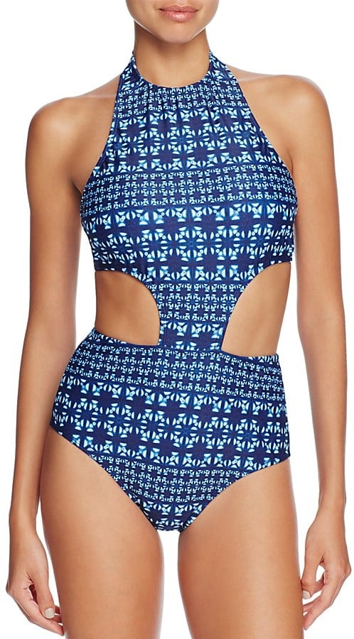 Shoshanna Graphic Sporty Monokini One Piece Swimsuit ($198)