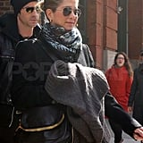 Jennifer and Justin Pack Up and Check Out of Their NYC Hotel
