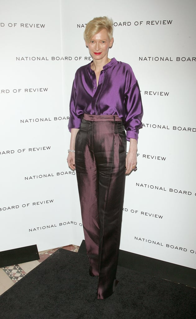 Tilda Swinton was sartorially set at the National Board of Review Awards gala in NYC.