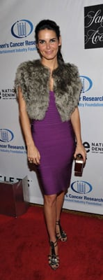 Angie Harmon Wears Herve Leger