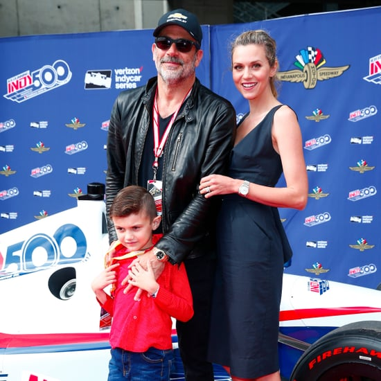 Jeffrey Dean Morgan and Hilarie Burton at the Indy 500 2017