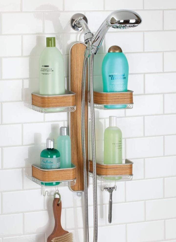 mDesign Metal Hanging Bath and Shower Caddy Storage Organizer