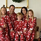 Sleepytime PJs Family Matching Cranberry Deer Pajamas