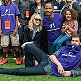 He joked around with kids during an LA event in November 2013 while joined by costars Emma Stone and Jamie Foxx.