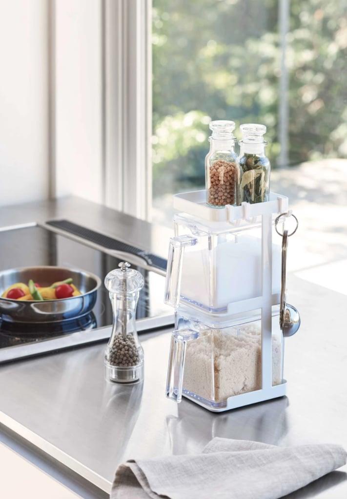 A Spice Rack Alternative: Yamazaki Home Salt & Sugar Containers