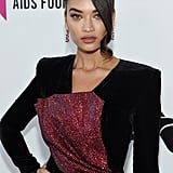 Shanina Shaik at the 2019 Elton John AIDS Foundation Academy Oscars Party