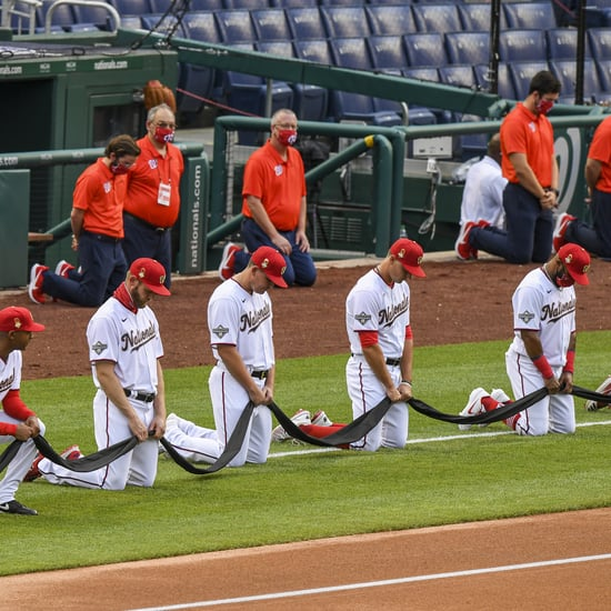 See MLB Players Kneel For Racial Justice on Opening Day