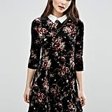 Qed London Floral Velvet Shirt Dress (£25)