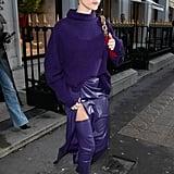 Hailey Bieber's Bright Looks For Paris Fashion Week