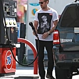 Ryan Gosling Pumping Gas in LA