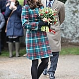 Kate Middleton's Miu Miu Plaid Coat Christmas Service 2017