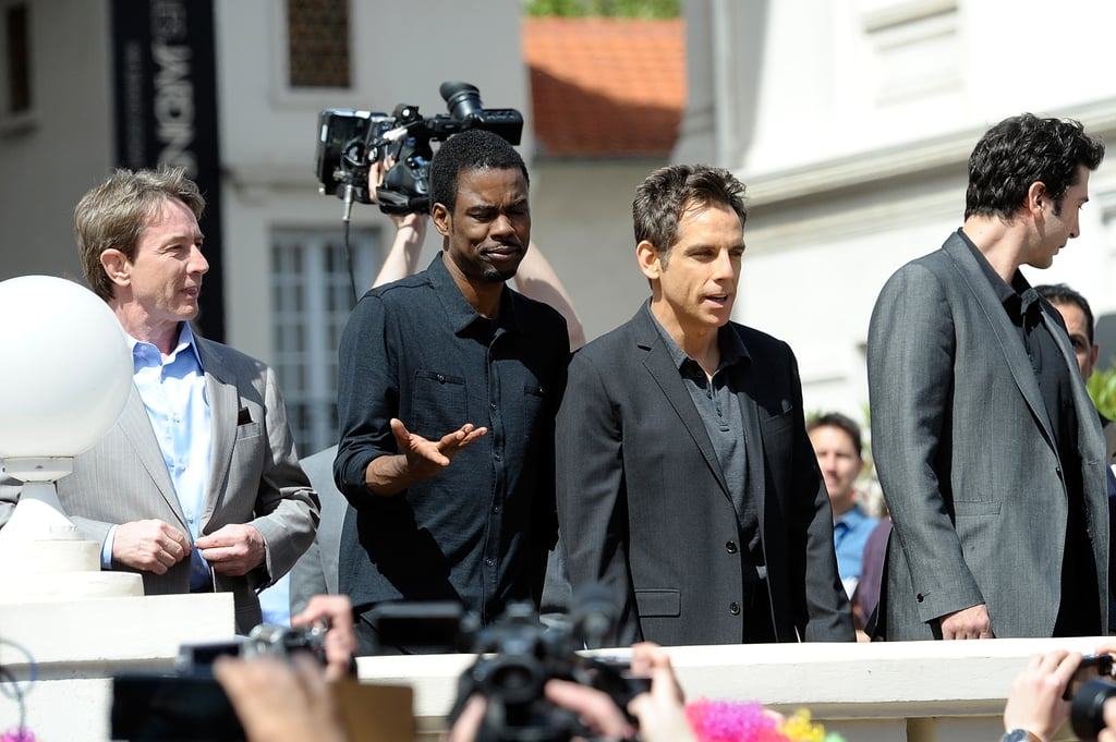 Funny guys Martin Short, Ben Stiller, Chris Rock, and David Schwimmer linked up at the Madagascar 3 photo shoot at the Cannes Film Festival.