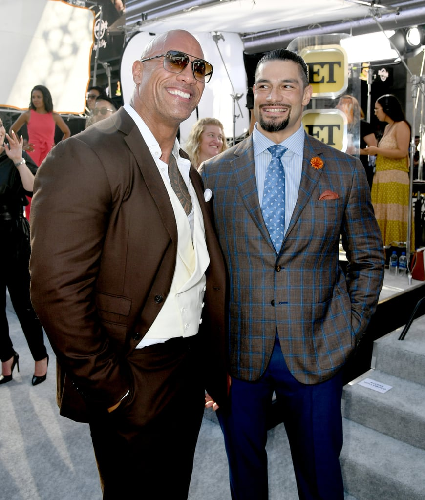 Dwayne Johnson and His Mom at Hobbs and Shaw LA Premiere