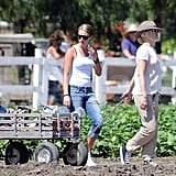Gwen Stefani at Underwood Family Farm with Zuma.