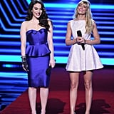 Kat Dennings and Beth Behrs were the hosts for the People's Choice Awards — check out more photos of Kat and Beth from the night.