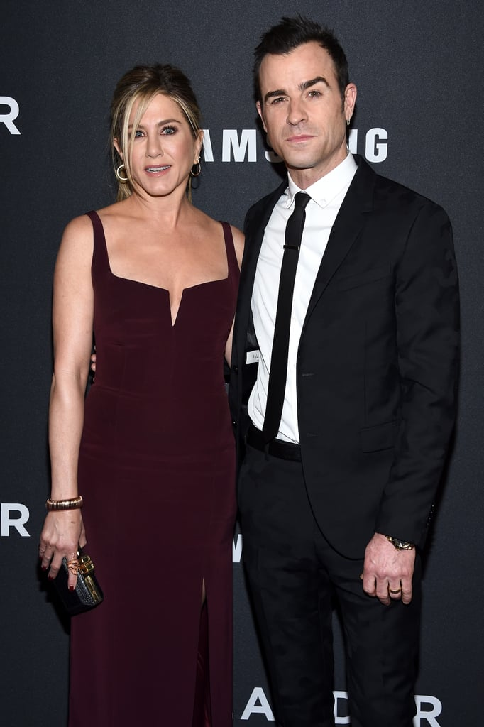 Justin Theroux had the support of his wife, Jennifer Aniston, at the world premiere of Zoolander 2 in NYC on Tuesday.  The two looked equally stunning in sleek ensembles and stayed close while posing for photographers outside. On top of his red carpet appearance, Justin, who is both a Zoolander 2 star and co-writer, participated in an impromptu fashion show as his onscreen character, EviL DJ, along with costars Will Ferrell, Penélope Cruz, and Ben Stiller, who was accompanied by his gorgeous family. It's just the latest event that the couple has popped up at together since they attended the Critics' Choice Awards in January, though Justin did make a solo appearance in Rome earlier this month. Keep reading to see more of the couple's latest outing, and then look back at Jennifer and Justin's most adorable moments together.