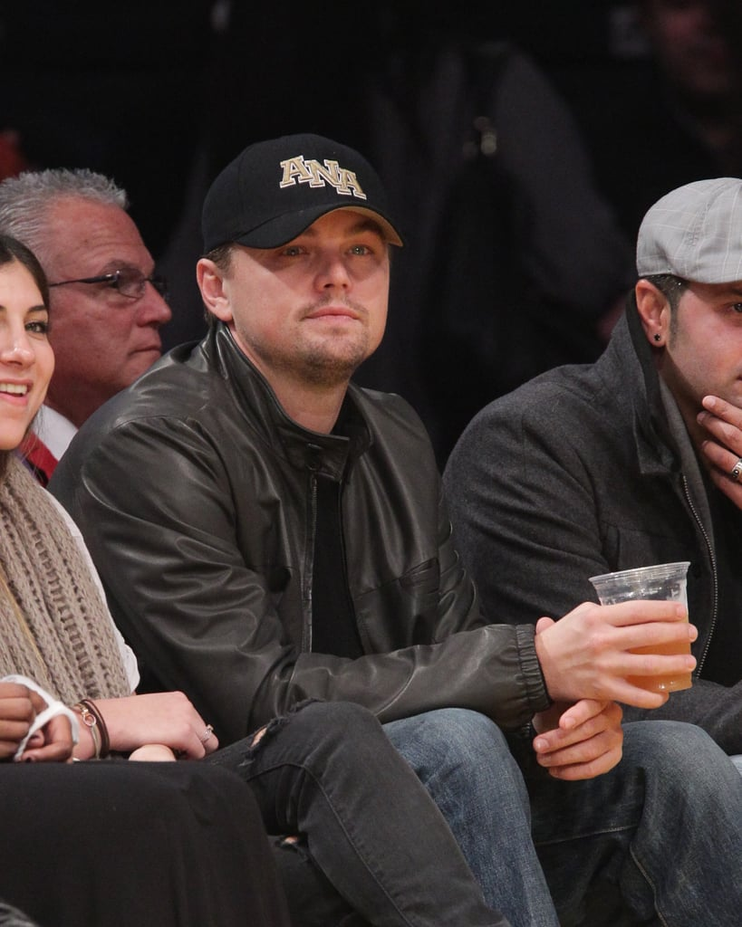 Pictures of Leonardo DiCaprio Courtside at a Lakers Game
