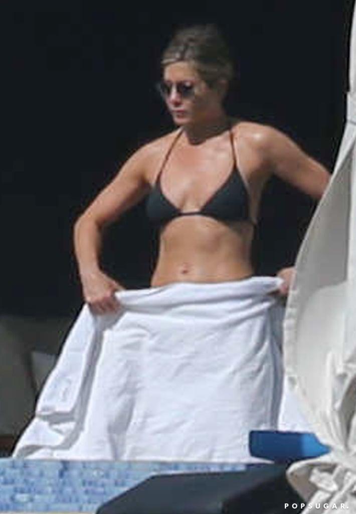Lounging By the Pool in a Classic Black Bikini
