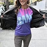 "Sarah Jessica Parker proudly showed off her ""Viva Obama"" t-shirt on Election Day."