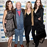Kate Moss supported her friend David Bailey at a charity event in London.
