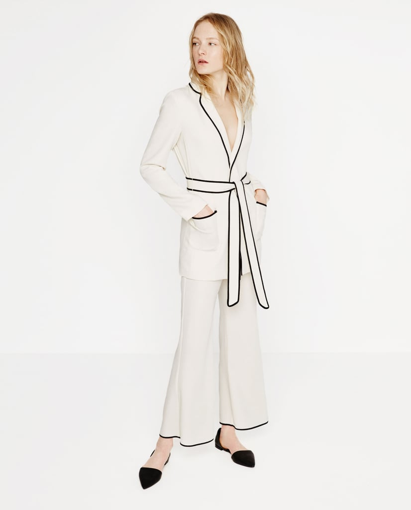 zara belted blazer 70 and cropped bell bottom trousers. Black Bedroom Furniture Sets. Home Design Ideas