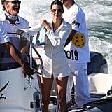 Kendall Jenner on a Yacht in Malibu, California