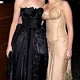 Scarlett and Anne Hathaway posed together at a Golden Globes afterparty in 2004.