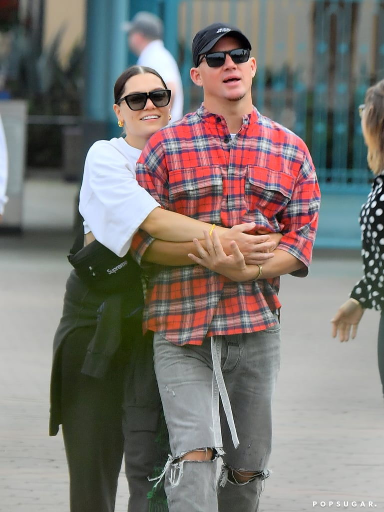 "Channing Tatum and Jessie J had a magical date day at the Happiest Place on Earth on Wednesday. The adorable lovebirds took a trip to Disneyland in Anaheim, CA, where they showed some PDA as they walked hand in hand throughout the amusement park and enjoyed a few rides. They even showed their playful sides, with Jessie giving her beau a fun-loving pinch on the nose and holding him close. During the outing, she wore a sweatshirt over a crop top with sweatpants, and Channing also looked casual in a plaid shirt with ripped jeans. Jessie and Channing's relationship first made headlines in October 2018, though they had reportedly been dating for a couple of months prior. Since then, they've given us so many reasons to ""ooh"" and ""awe"" over their romance. Between Jessie being Channing's photographer for sexy risqué pictures and their PDA-packed moments, we can't help but have cheesy smiles and full hearts whenever they're having fun together. Related: Look at Those Smiles! Jessie J and Channing Tatum Are Clearly Smitten With Each Other"