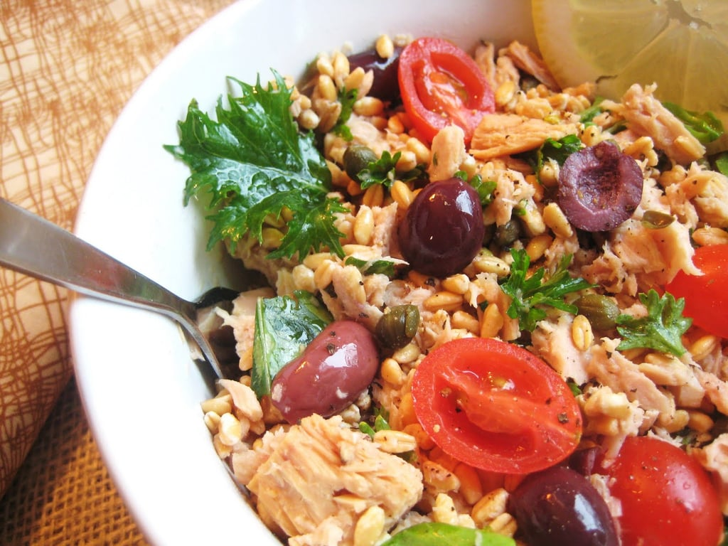 Tuna and farro salad healthy mediterranean recipes for Mediterranean food menu
