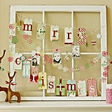 Christmas Window Tag Display