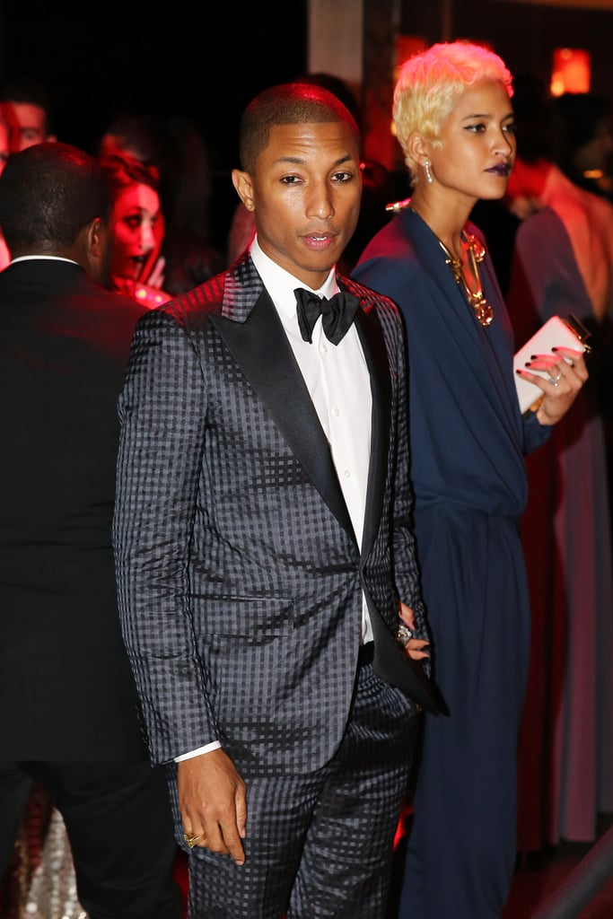 Pharrell arrived at the Met Gala 2013 afterparty.