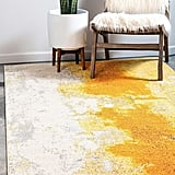 Unique Loom Estrella Collection Colorful Abstract Yellow Area Rug
