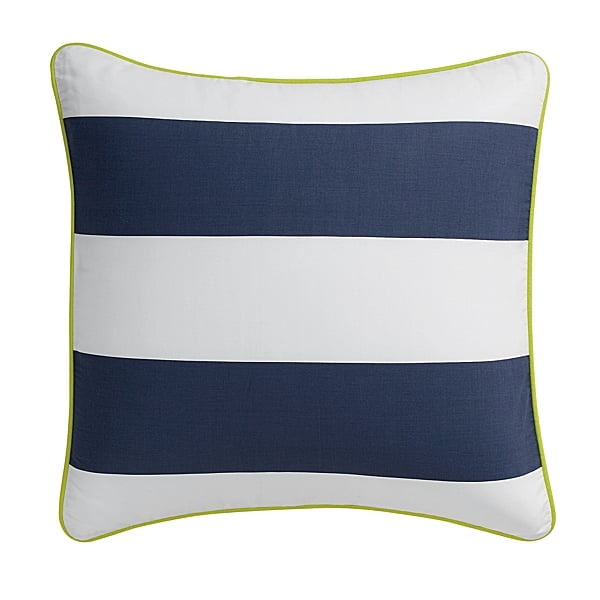 Mix Serena and Lily's striped sham ($68) with other patterned pillows for a bold, bright style.