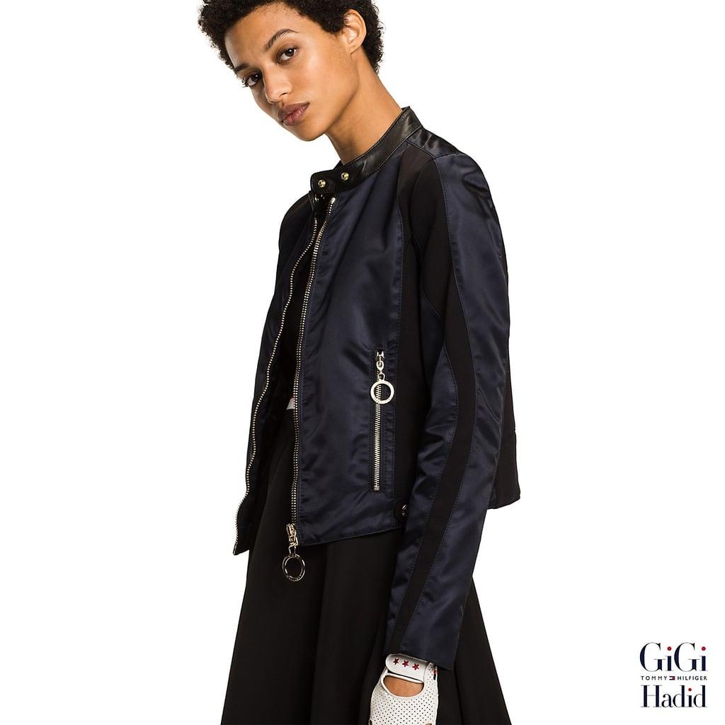 39556c030a7f98 Gigi Hadid Satin Moto Jacket ( 295)