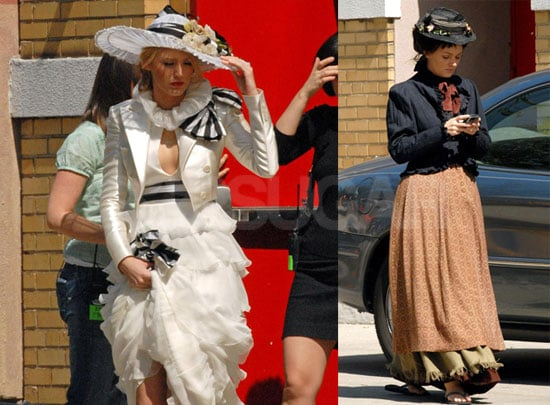 Photos of Leighton Meester and Blake Lively on the Set Of Gossip Girl