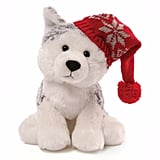 Gund Baby's Christmas Flurry Husky with Cap Plush Toy