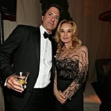 Steven Levitan mingled with Jessica Lange at the Fox after paty.