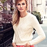 This sweater is the definition of Winter white: fresh, clean, and incredibly cozy.  H&M Pattern-Knit Sweater ($50)