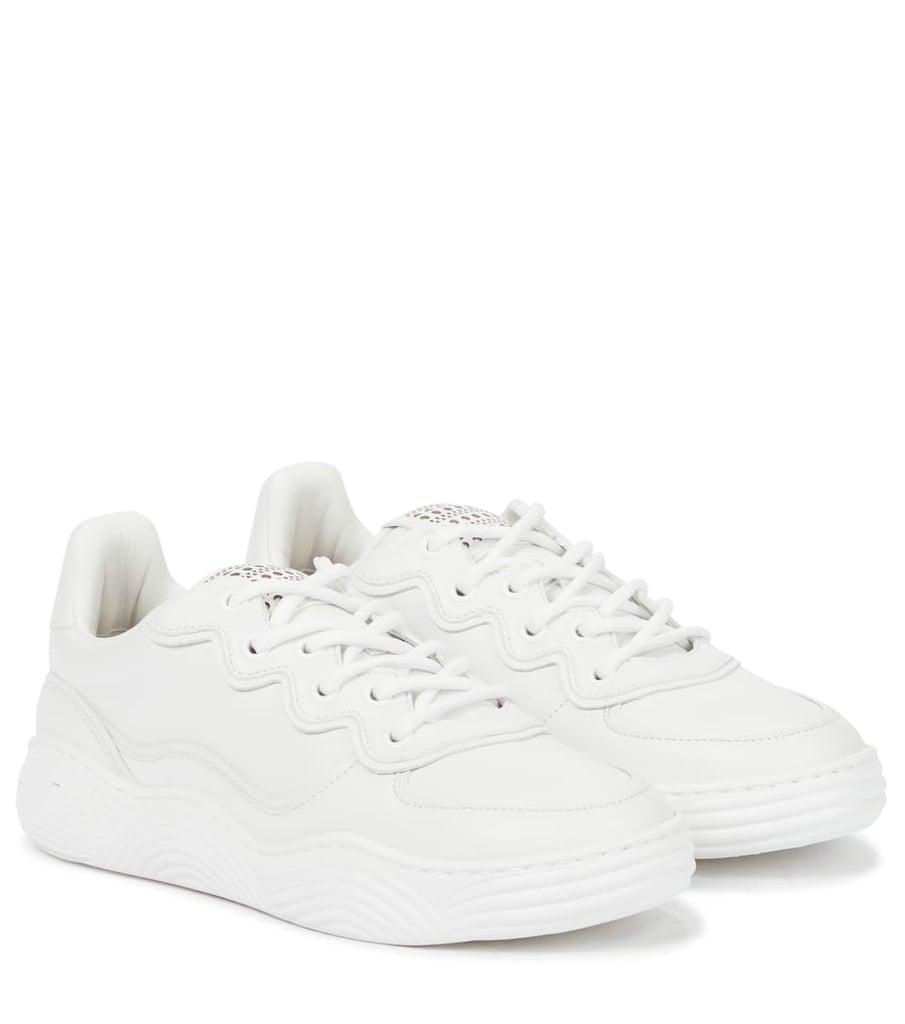 Alaïa Laser-Cut Leather Sneakers