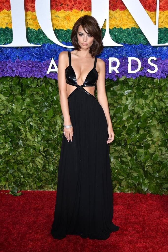 Emily Ratajkowski at the 2019 Tony Awards in Michael Kors
