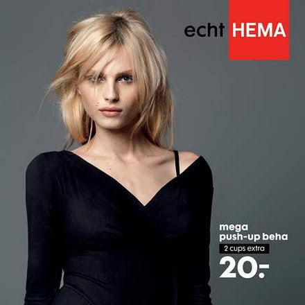 Male Model Andrej Pejic Push Up Bra Ad