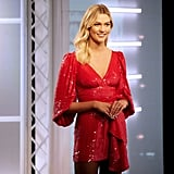 Project Runway Episode 11: Karlie's Red Sequined Dress With a Ruffle
