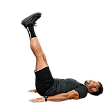Leg Lowers: Slow for 20 reps