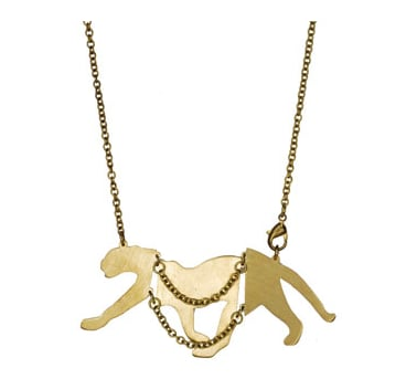 Monserat de Lucca Brass Cougar Necklace