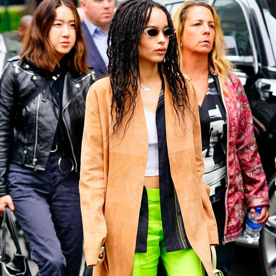 Zoe Kravitz's Green Pants in NYC 2019