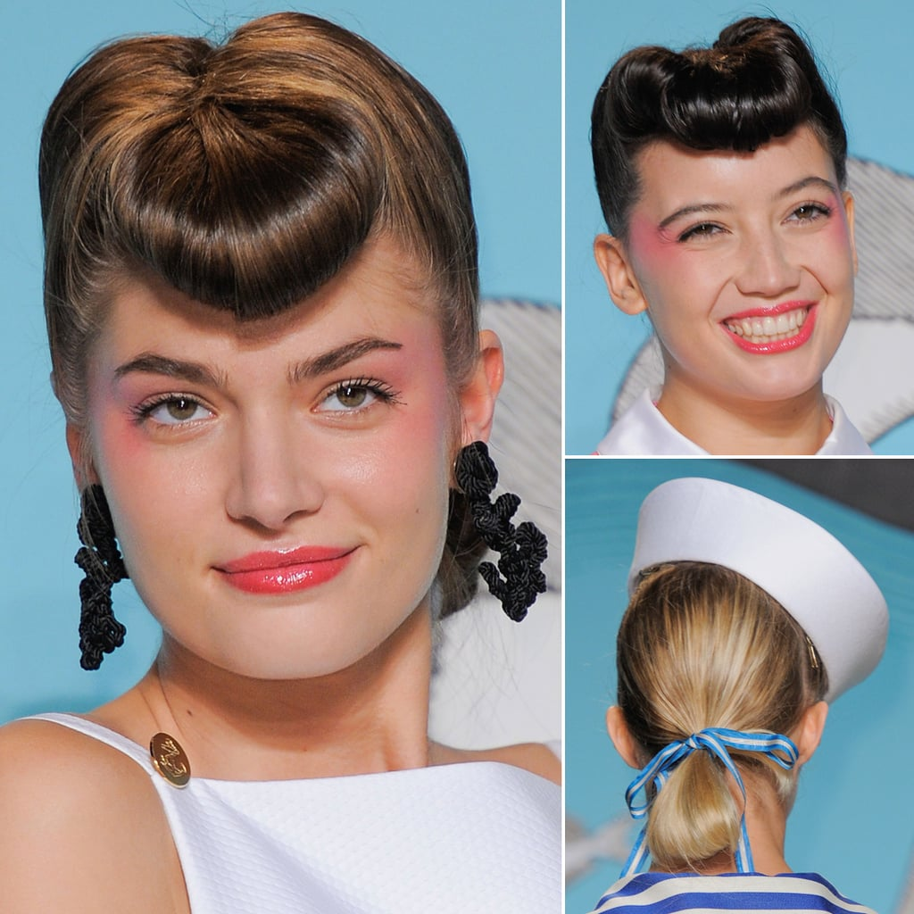 Retro Vintage Hair at Olympia Le-Tan   Paris Fashion Week