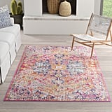 Hillsby Oriental 9x12 Orange/Navy Area Rug