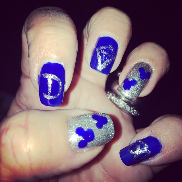 Disney Nail Art Disneylands 60th Anniversary Popsugar Beauty