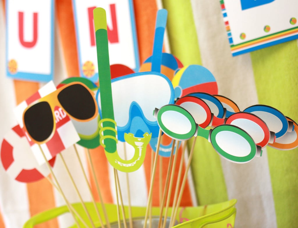 Photo Booth Props Cheap Pool Party Decorations Popsugar Smart